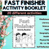 EARLY FINISHERS BOOKLET, Activity Sheet, Fast Finishers Ac