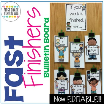 Fast Finishers: Bulletin Board