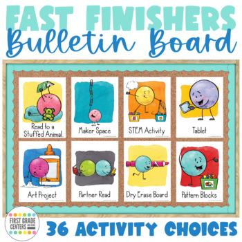 Fast Finishers Bulletin Board- Dot Dudes Version
