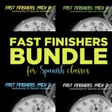 Fast Finishers Bundle: 60 printable worksheets in Spanish
