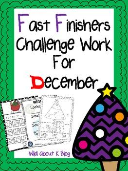December Fast Finishers Challenge Pack