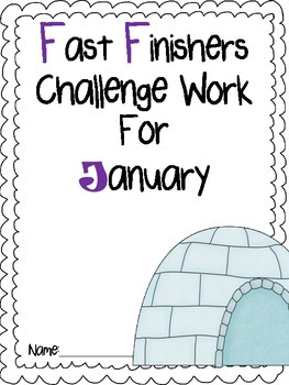 Fast Finishers Challenge Pack for January