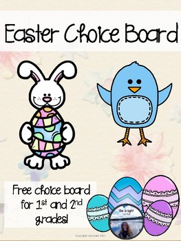 Fast Finishers Choice Board Easter