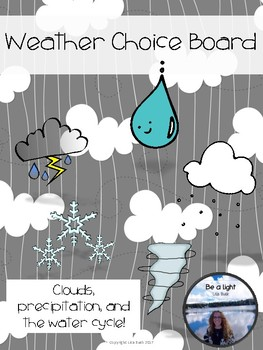 Fast Finishers Choice Board Weather