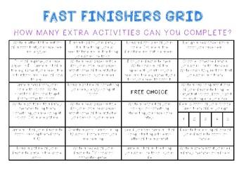Fast Finishers Grid