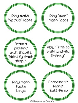 Fast Finishers Jar (for students who finish early) **EDITABLE**