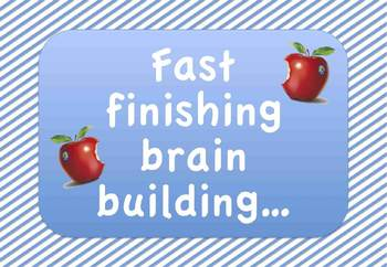 Fast Finishers Poster