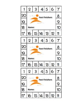Fast Finishers Punch Card