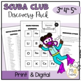 Fast Finishers Scuba Club Challenges for 3rd, 4th, 5th Graders, Gifted/Talented