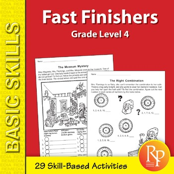Fast Finishers Skill-Based Activities for Fourth Grade