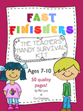 Fast Finishers Early Finishers Pack for Students