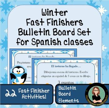Spanish class Fast Finishers! Winter Packet
