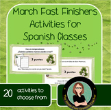 Spanish Fast Finishers activities for March! task cards