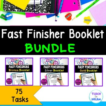 Fast Finishers Tasks or End of Term: Ultimate Challenge Book - BUNDLE!!