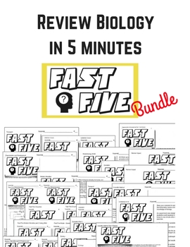 Fast Five Review sheets for Biology (The Living Environment in NYS)