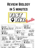 Fast Five Review sheets for Biology (The Living Environmen