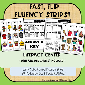 Fast Flip  Fluency Strips: Short & Long Vowel Sounds