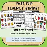 Fast Flip  Fluency Strips: Short & Long Vowel Sounds