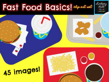 Fast Food Basics! {Clip Art Set}
