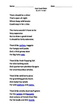 Fast Food Chain Poem