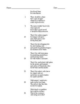 Fast Food Chain poem