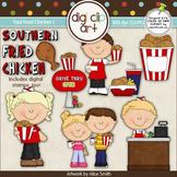 Fast Food Chicken 1-  Digi Clip Art/Digital Stamps - CU Clip Art