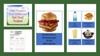 Fast Food Choices - Calories and Cost
