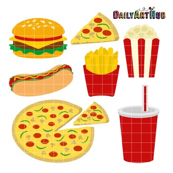 Fast Food Clip Art - Great for Art Class Projects!
