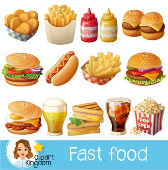 Fast Food Clipart Hamburger Clip Art Food Vector Graphic Food Clip Art