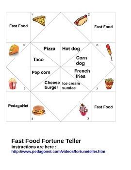Fast Food Fortune Teller