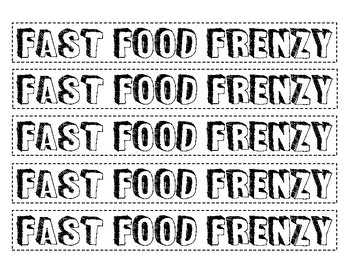 Fast Food Frenzy - A Multiplication with Regrouping Activity