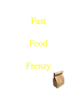 Fast Food Frenzy - Percent and Proportion Activity