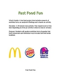 Fast Food Fun