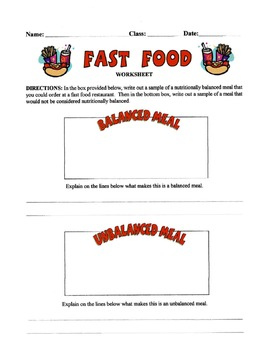 Fast Food Lesson