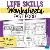 Fast Food Life Skills Worksheets - Life Skills Special Edu