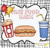 Fast Food Math Activities {mixed Math centers for Grade One}