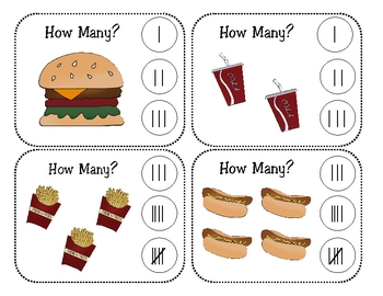 Fast Food Math Activity Centers