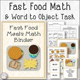 Fast Food Math Binder and More