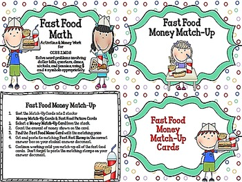 Fast Food Math CCSS 2.MD.8