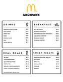 Fast Food Menu Math