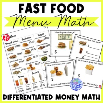 photograph about Chick Fil a Menu Printable known as Instantaneous Food stuff Menu Math- Chick Fil-A for Autism Methods and Early Basic