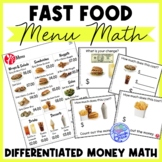 Fast Food Menu Math- Chick Fil-A for Special Education and