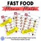 Fast Food Menu Math- KFC for Autism Units and Early Elementary
