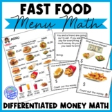 Fast Food Menu Math - WENDY'S for Special Education and Ea