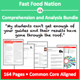 Fast Food Nation – Comprehension and Analysis Bundle