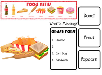 Fast Food Orders BUNDLE: Interactive PDFs
