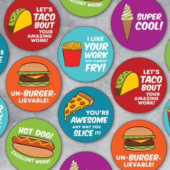Fast Food Puns Digital Stickers For Distance Learning Fun Online Feedback
