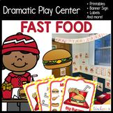 Fast Food Restaurant Dramatic Play