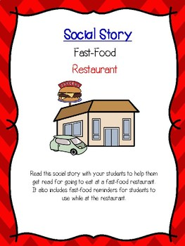Fast Food Restaurant-Social Story and reminders-For Special Education and Autism