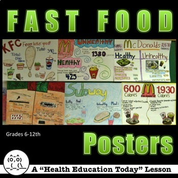 Health Lesson: Fast Food - A Fun Healthy Versus Unhealthy Poster Project